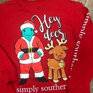 Simply Southern Hey Deer Reindeer Christmas Santa
